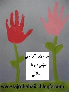 Iranian revolution /کاردستی برای دهه فجر/کاردستی با کف دست